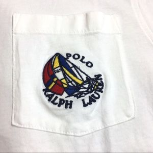 Ralph Lauren Polo Patch White Shirt L